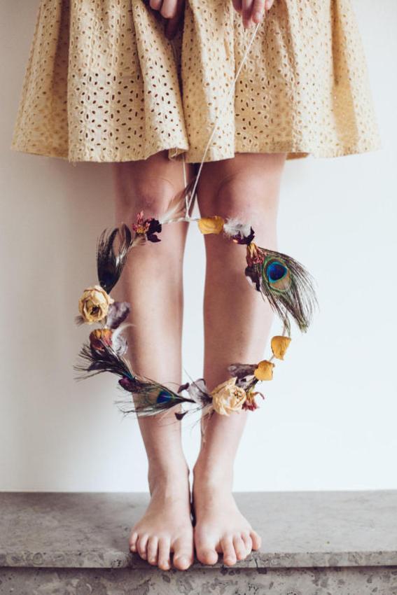 Eléonore M couronne de fleurs séchées